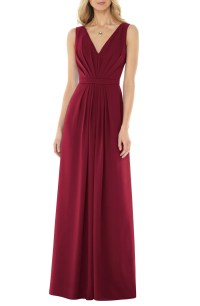 Social Bridesmaids V-Neck Georgette Gown | Nordstrom