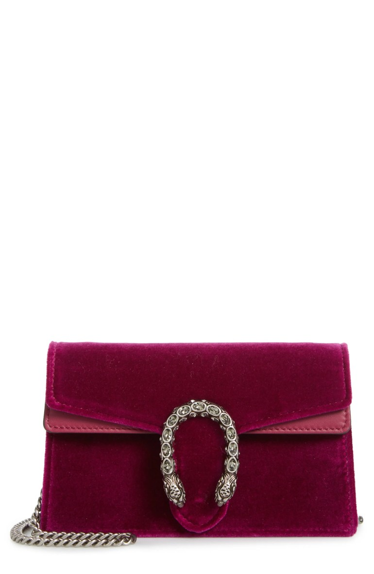Gucci Super Mini Dionysus Velvet Shoulder Bag