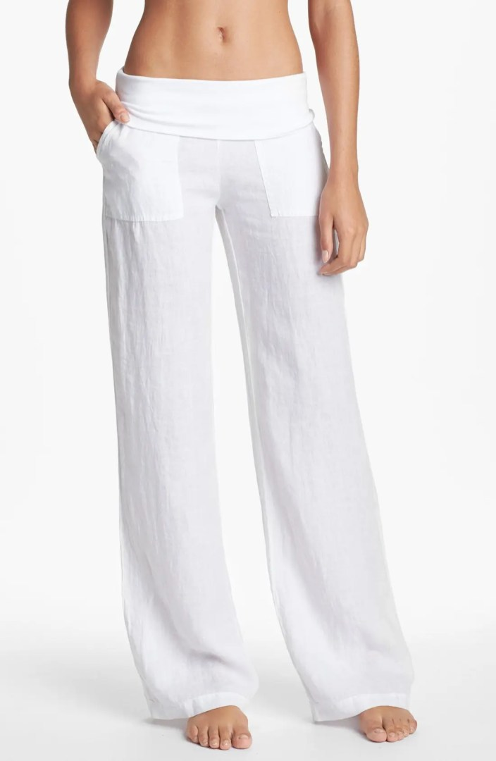 Solow Wide Leg Linen Pants Nordstrom