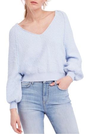 Found My Friend Sweater,                         Main,                         color, Sky