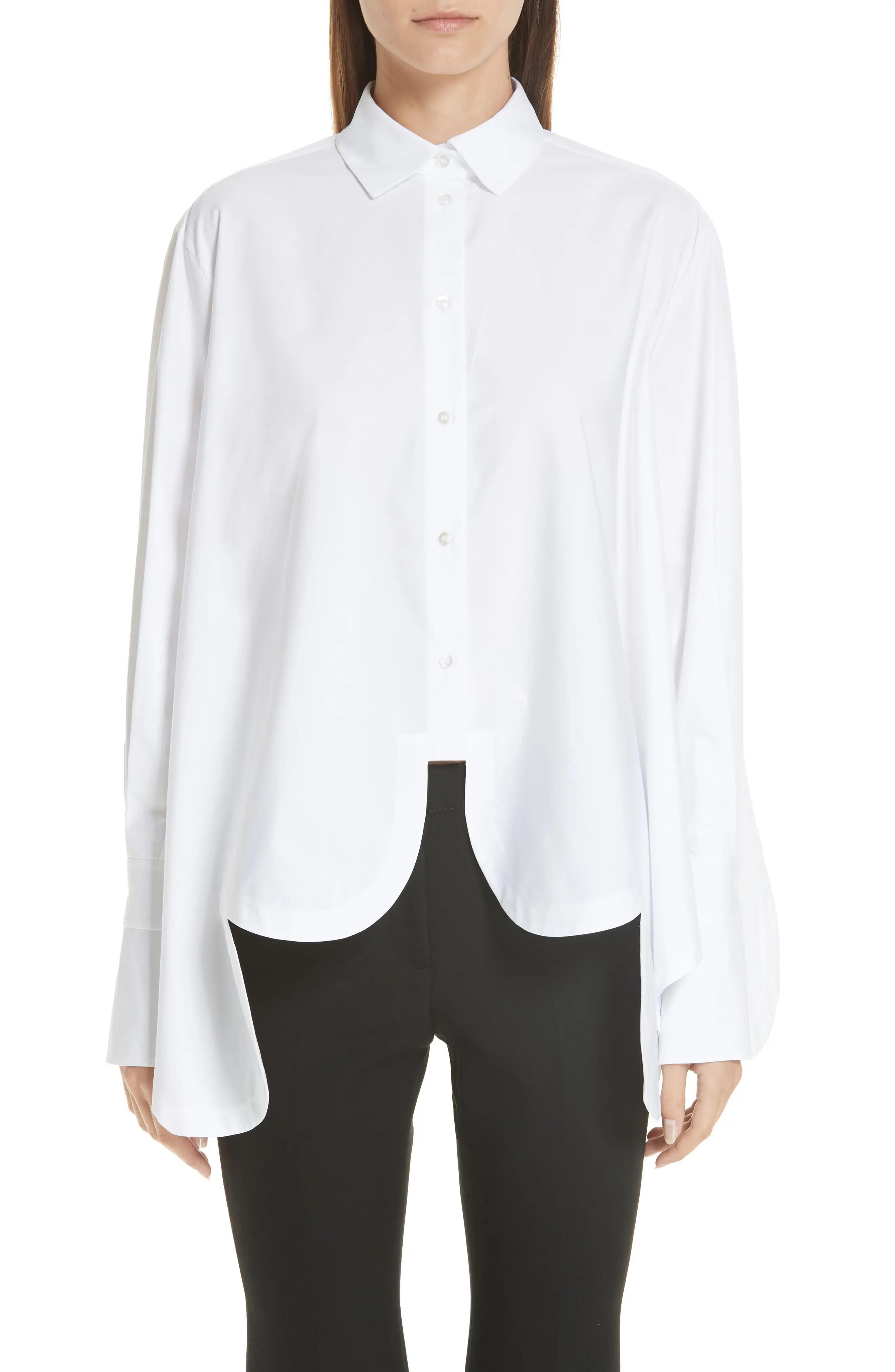 Valentino scallop hem poplin trapeze shirt also women   clothing nordstrom rh shoprdstrom