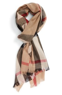 Burberry Check Wool & Cashmere Scarf | Nordstrom
