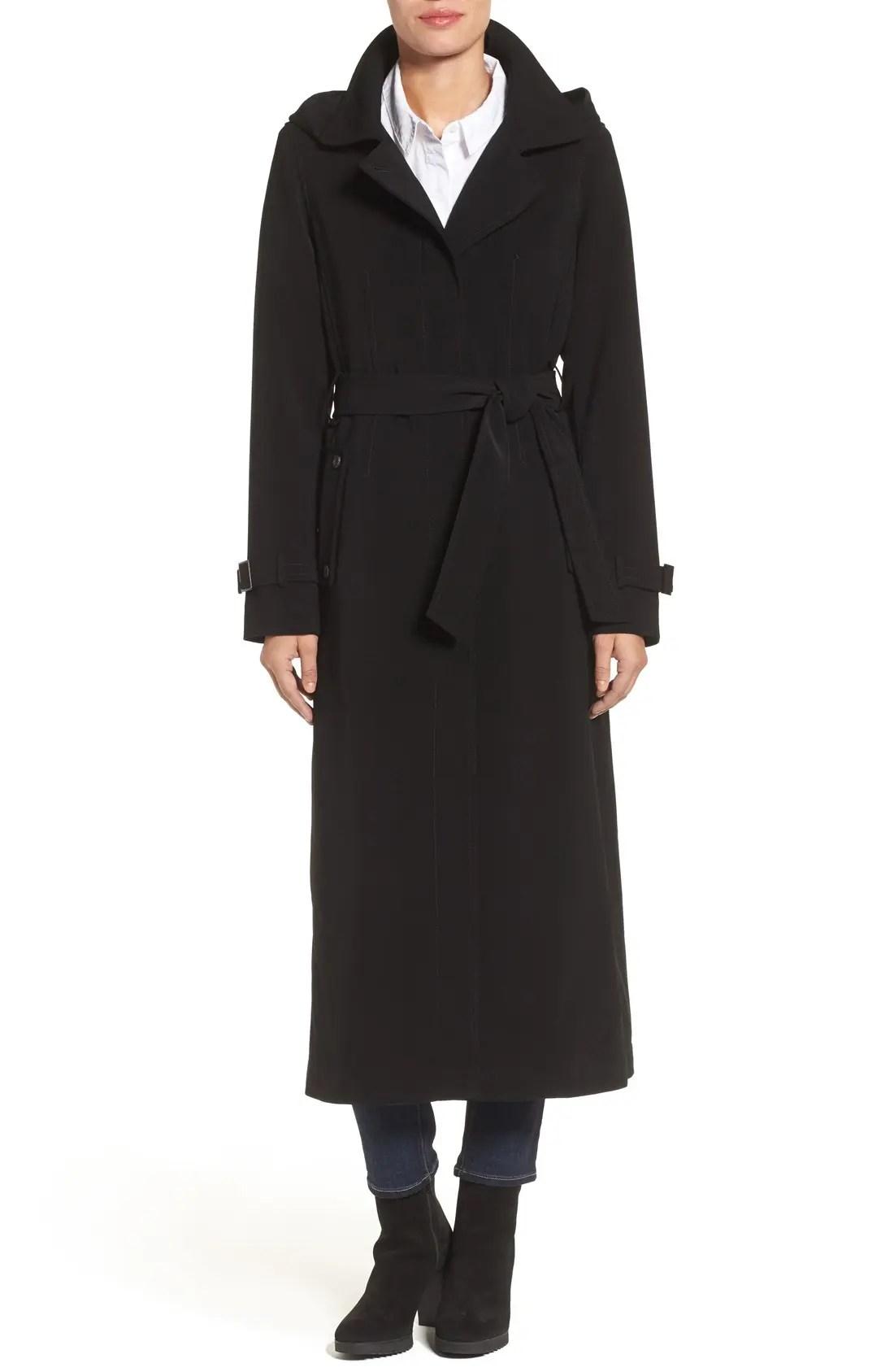 Gallery Petite Full Length Hooded Nepage Raincoat $239.9