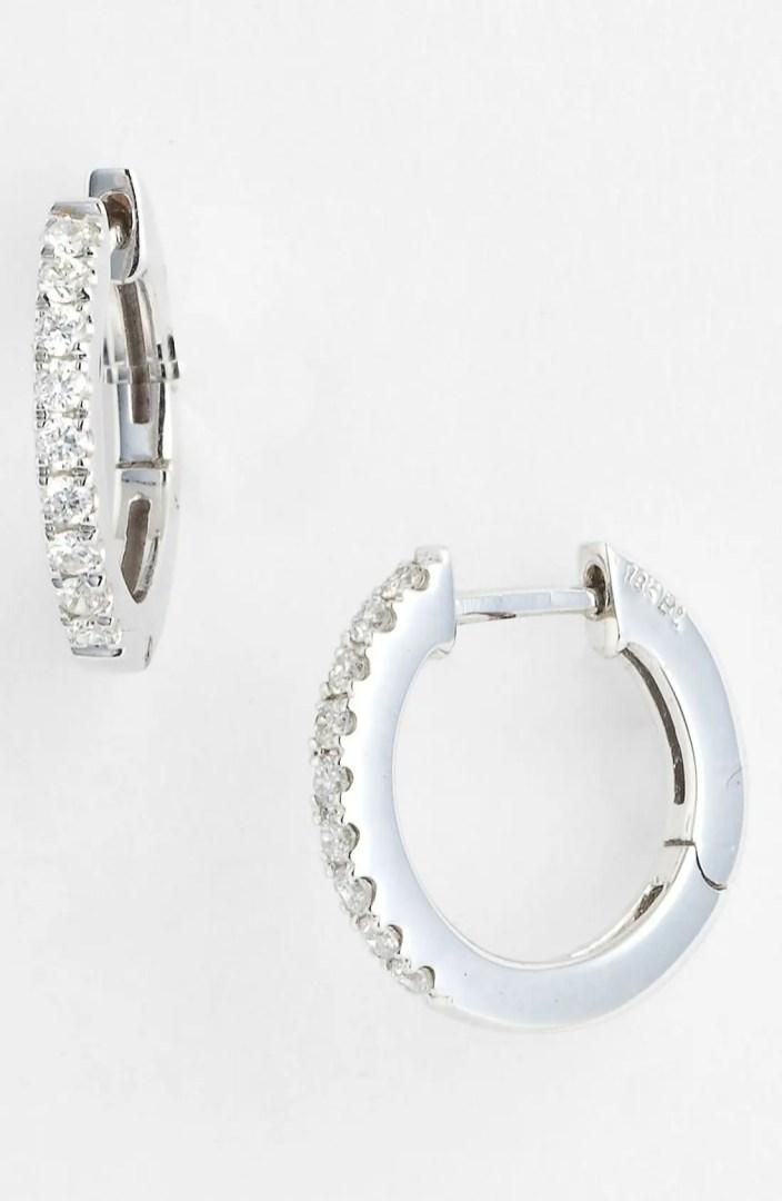 Bony Levy Diamond Hoop Earrings (Nordstrom Exclusive