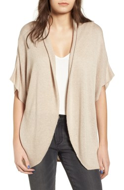 Dolman Sleeve Cardigan,                         Main,                         color, Tan Etherea Heather