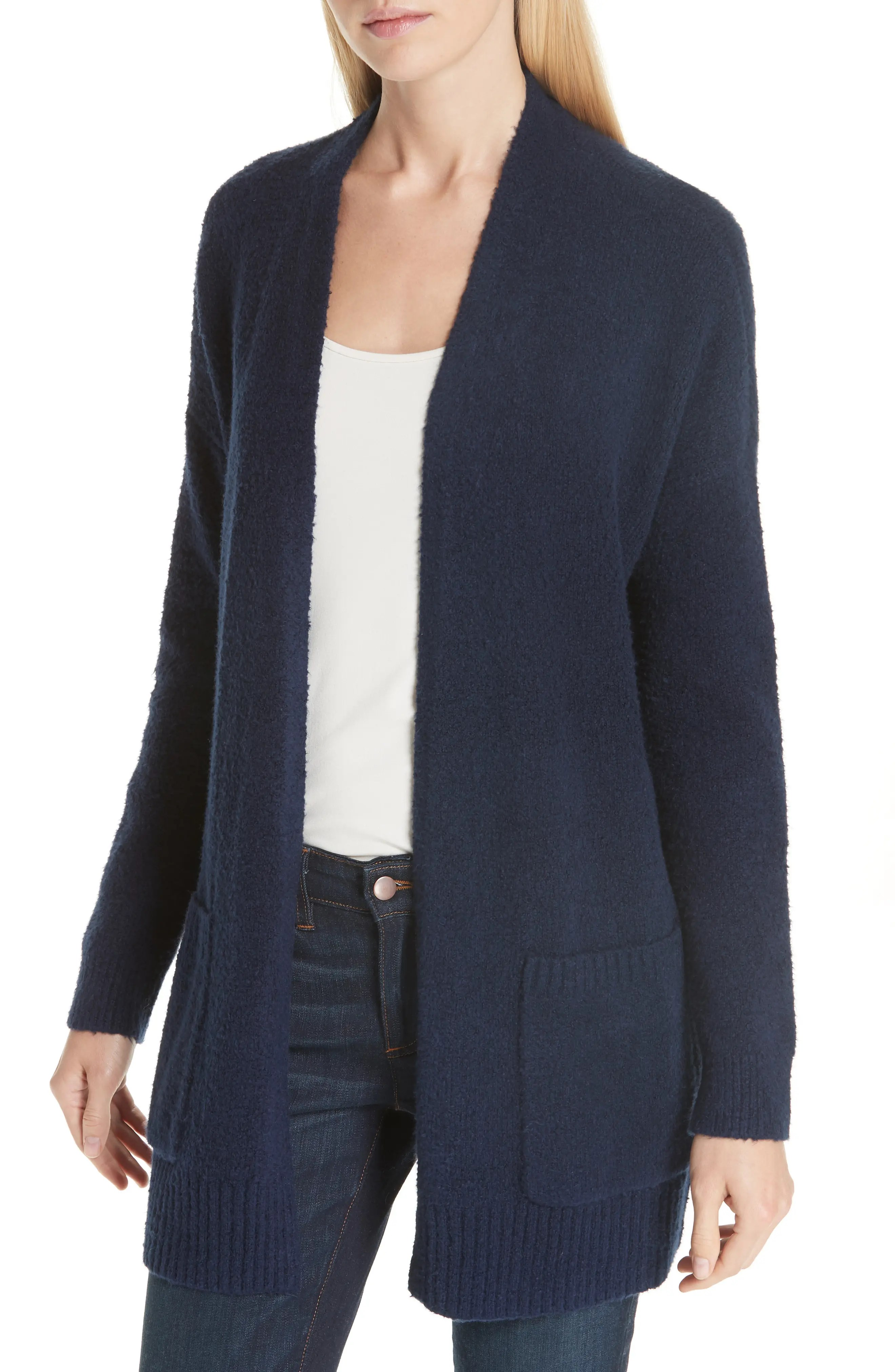 Eileen fisher long organic cotton blend cardigan regular  petite also women  clothing nordstrom rh shoprdstrom