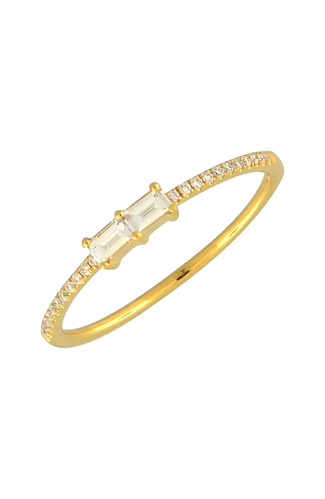 Main Image - Bony Levy Double Baguette Diamond Ring (Nordstrom Exclusive)
