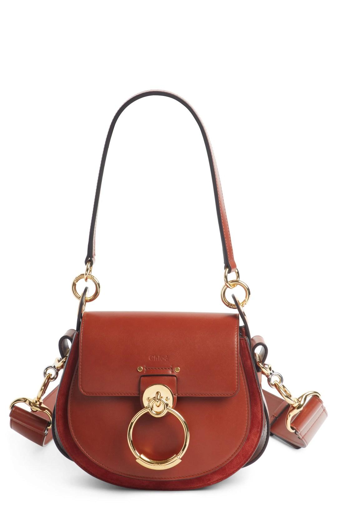 9bfb3b56f0ad Chloé Small Tess Calfskin Leather Shoulder Bag