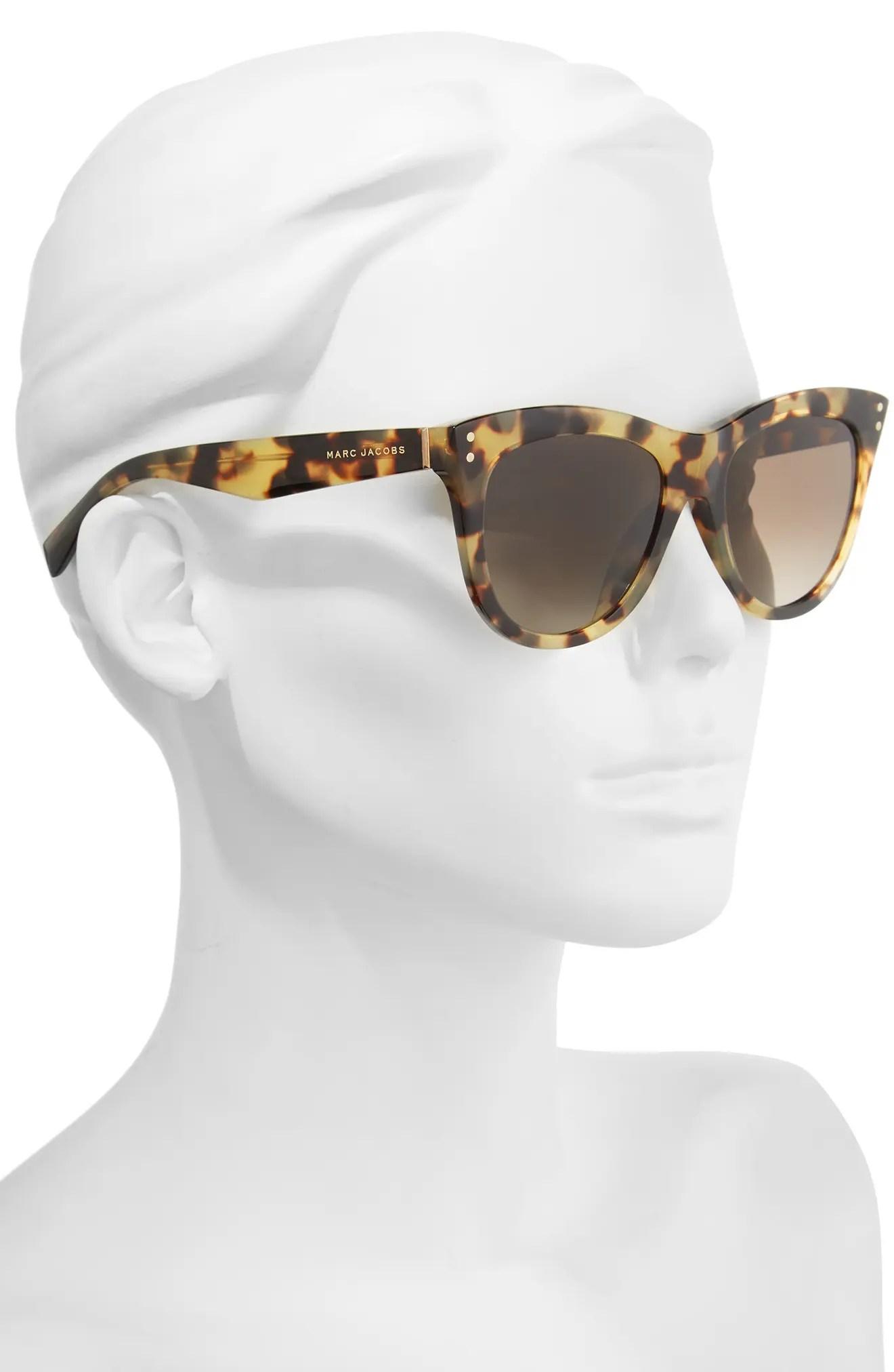 Main Image - MARC JACOBS 54mm Gradient Polarized Sunglasses