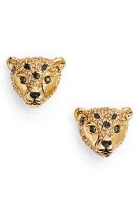 kate spade new york run wild cheetah stud earrings | Nordstrom