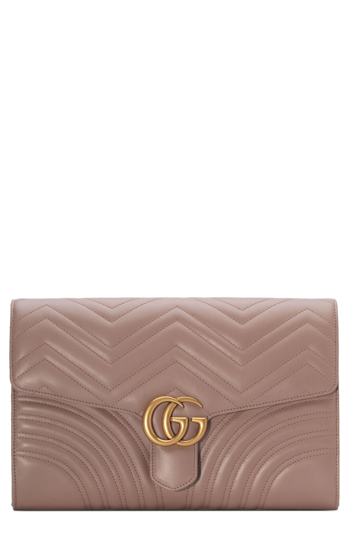 Gucci GG Marmont 2.0 Matelassé Leather Clutch