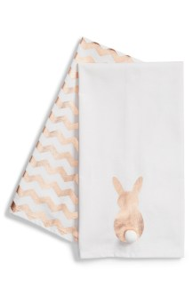 Levtex Bunny Set of 2 Dishtowels