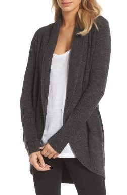 CozyChic Lite<sup>®</sup> Circle Cardigan, Main, color, Carbon/ Black Heather