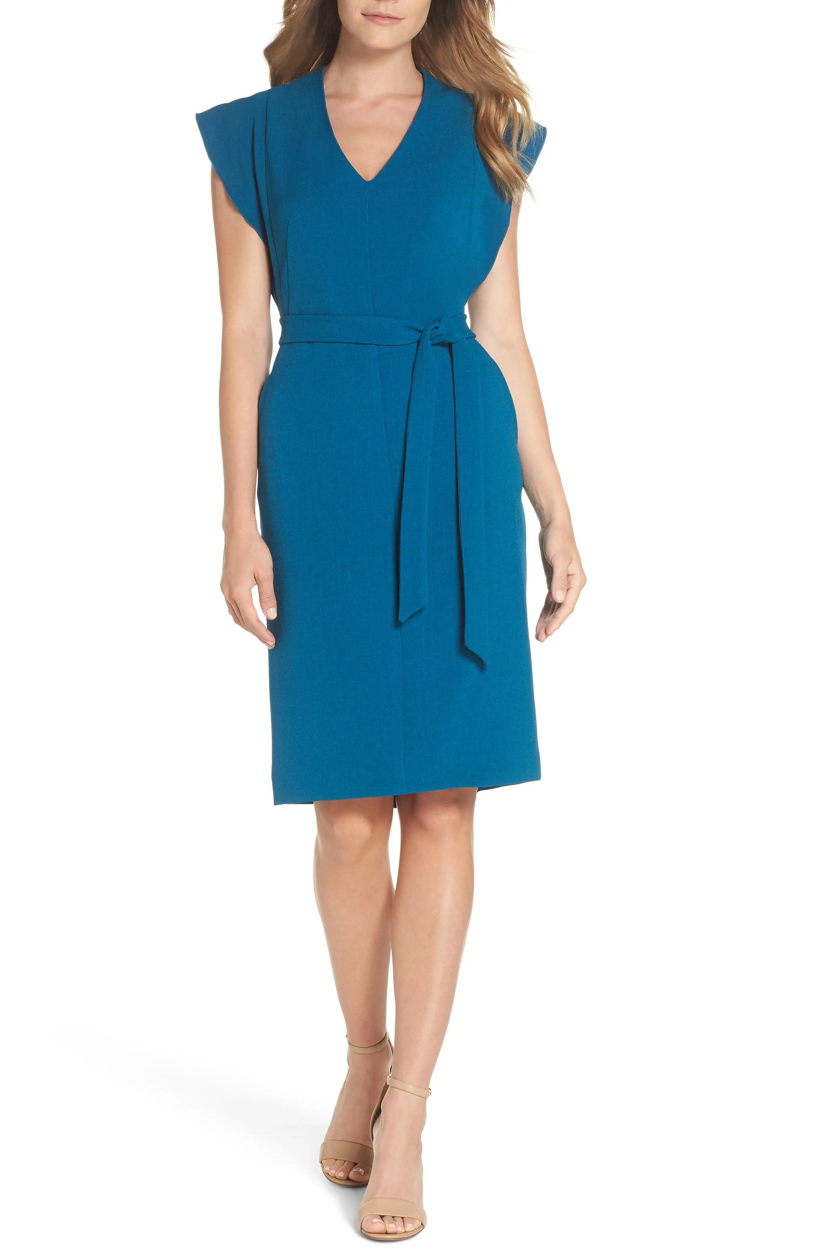 Eliza  ruffle sleeve sheath dress also women   dresses nordstrom rh shoprdstrom