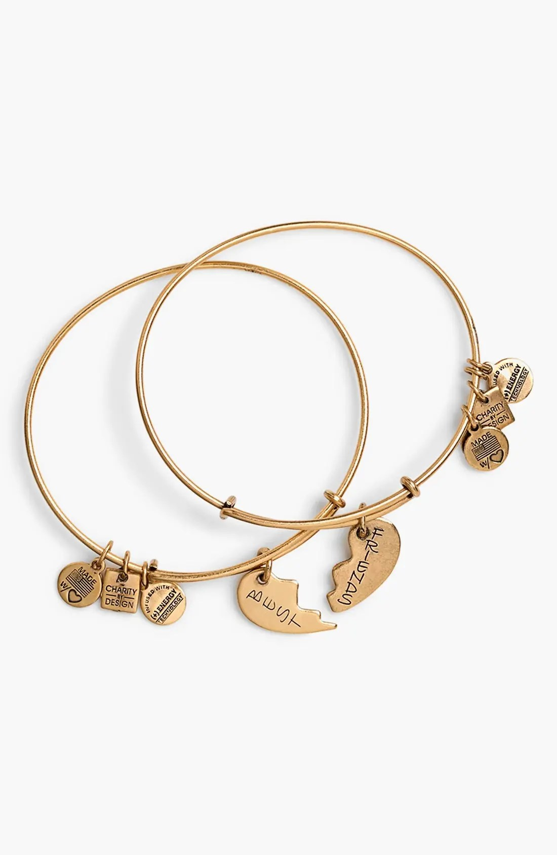 Main Image - Alex and Ani 'Charity by Design - Best Friends' Adjustable Wire Bangles (Set of 2)