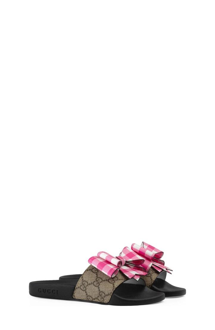 Gucci Pursuit Bow Slide (Toddler & Little Kid)