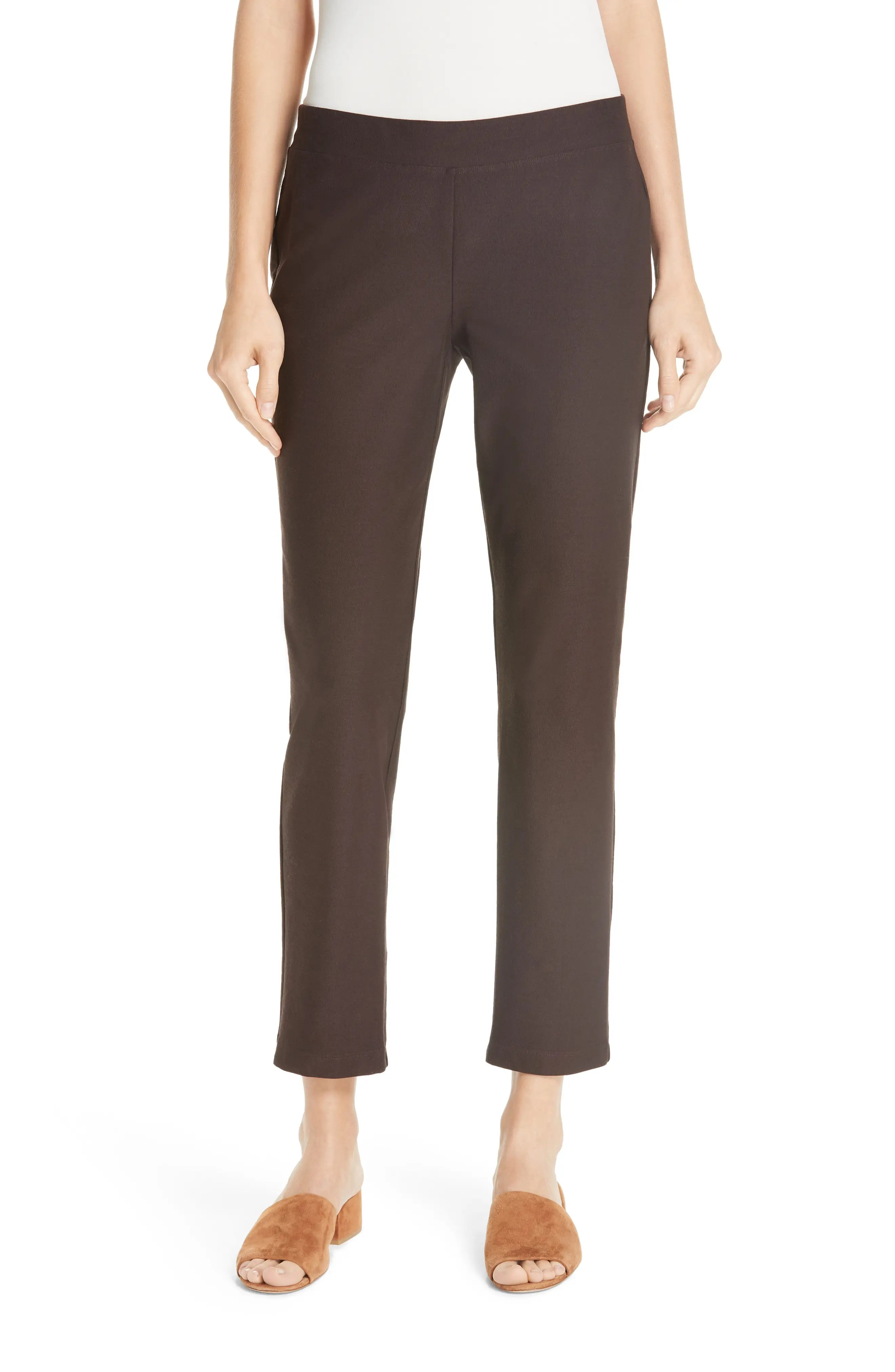 Eileen fisher stretch crepe slim ankle pants also women   petite clothing nordstrom rh shoprdstrom