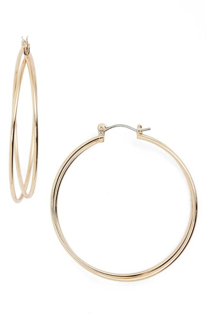 Nordstrom Twisted Hoop Earrings