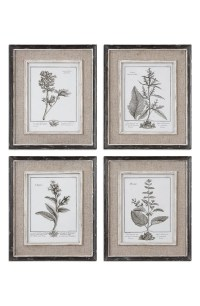 Uttermost 'Casual Grey Study' Wall Art (Set of 4) | Nordstrom