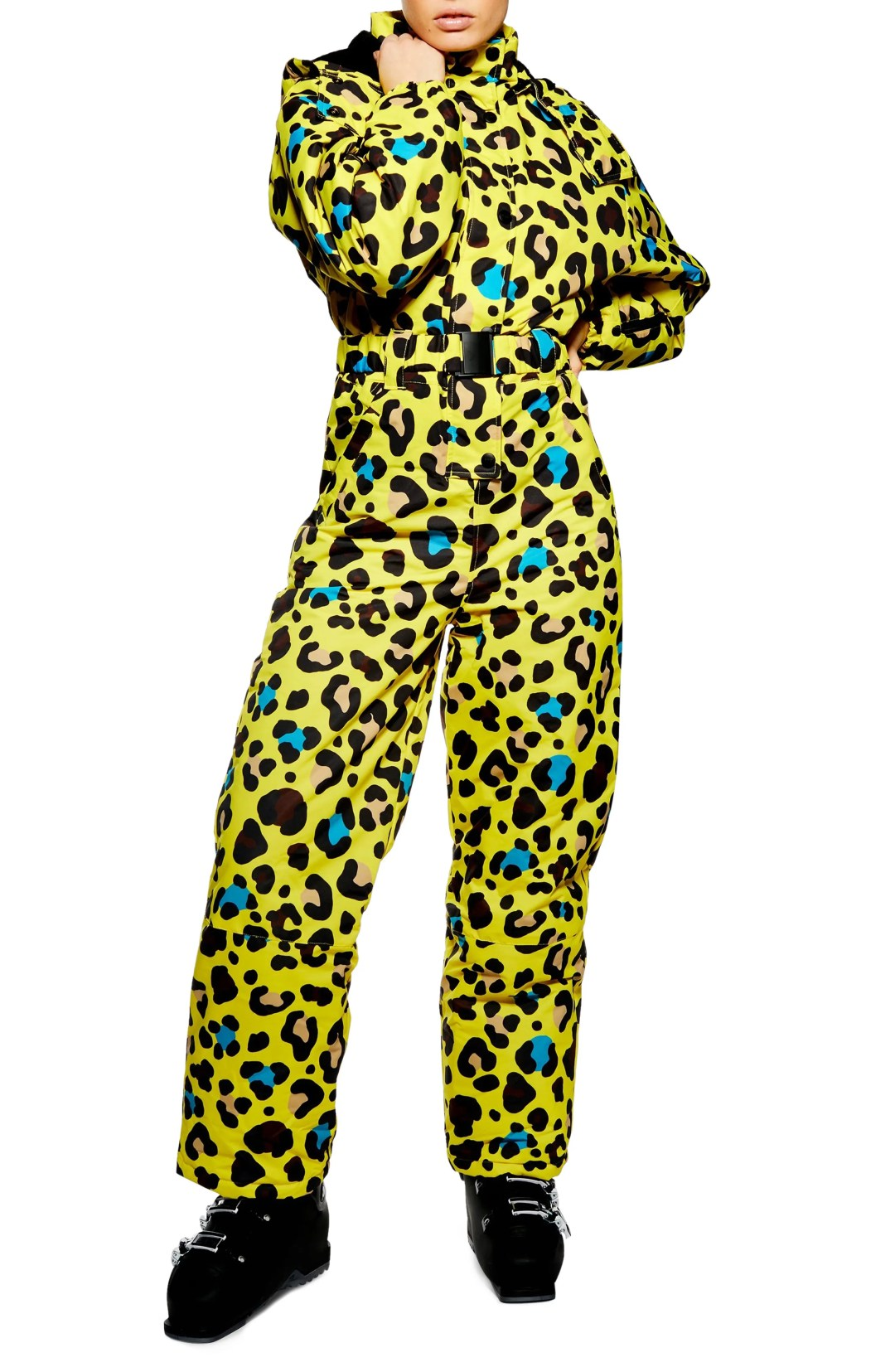2dd94cc8e Women's Topshop Sno Gwen Waterproof Leopard Jumpsuit, Size 4 US (fits like  0-2) – Yellow – TOPSHOP AT NORDSTROM – $330.00