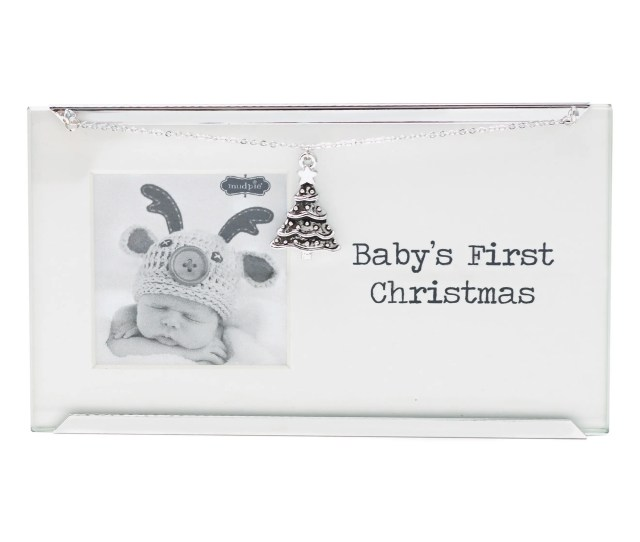 Babys First Christmas Frame With Tree Charm