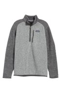 Better Sweater Quarter Zip Pullover, Main, color, NICKEL W/ FORGE GREY