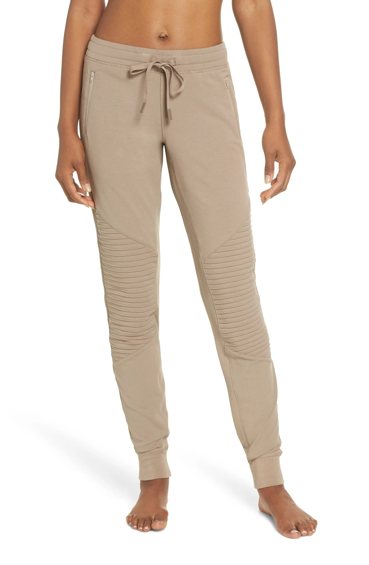 ALO Urban Moto Sweatpants, Main, color, GRAVEL