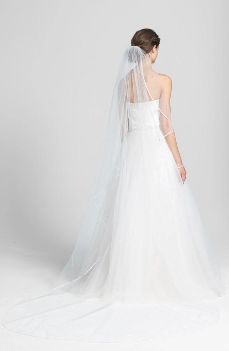 Cathedral veils for short brides