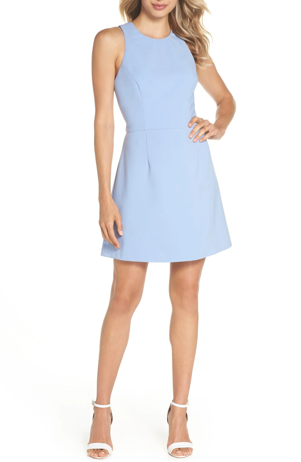 V-Back Tank Dress, Main, color, ANCONA BLUE
