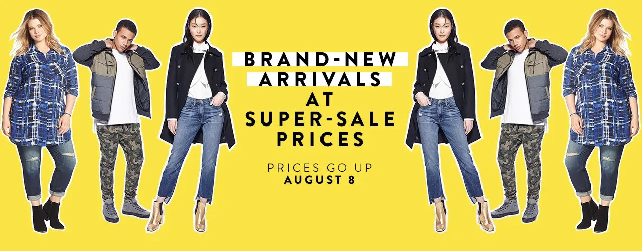 Get brand-new arrivals at super-sale prices during Anniversary Sale.
