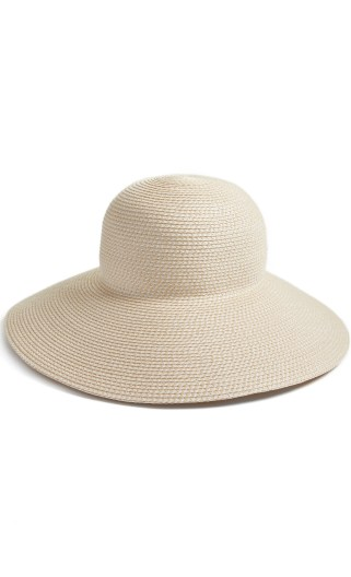 'Hampton' Straw Sun Hat, Main, color, CREAM