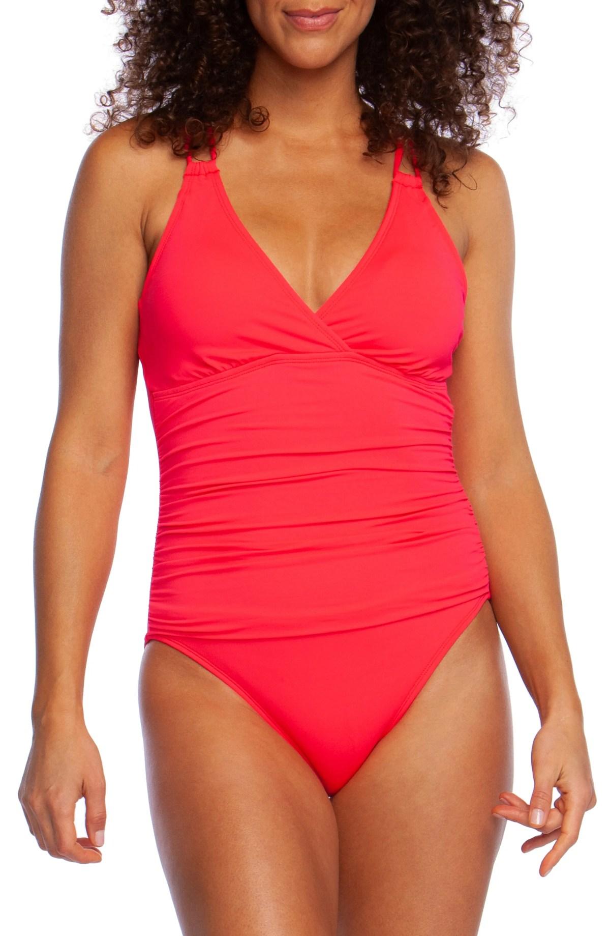 LA BLANCA Island One-Piece Swimsuit, Main, color, WATERMELON