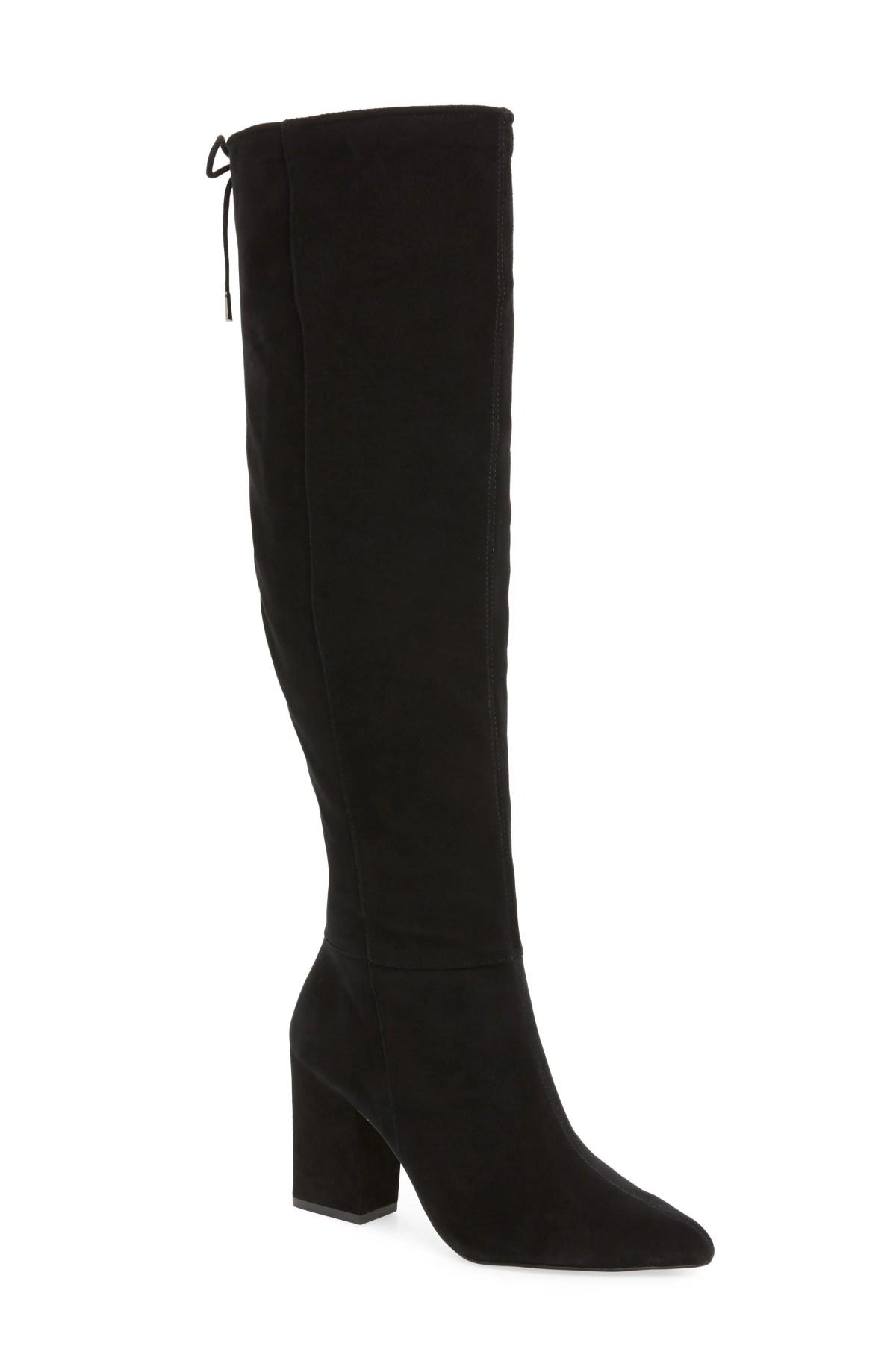 Sarelia Boot,                         Main,                         color, BLACK SUEDE