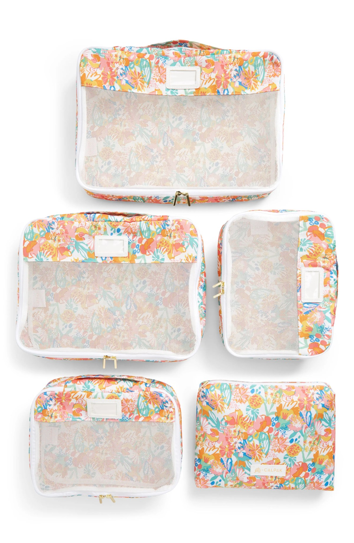 x Oh Joy! Set of 5 Packing Cubes, Main, color, FLORAL