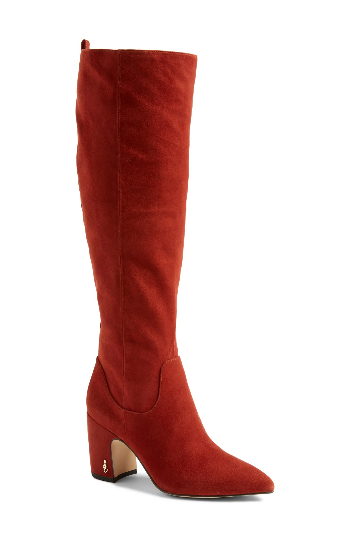 Hai Knee High Boot,                         Main,                         color, PAPRIKA SUEDE