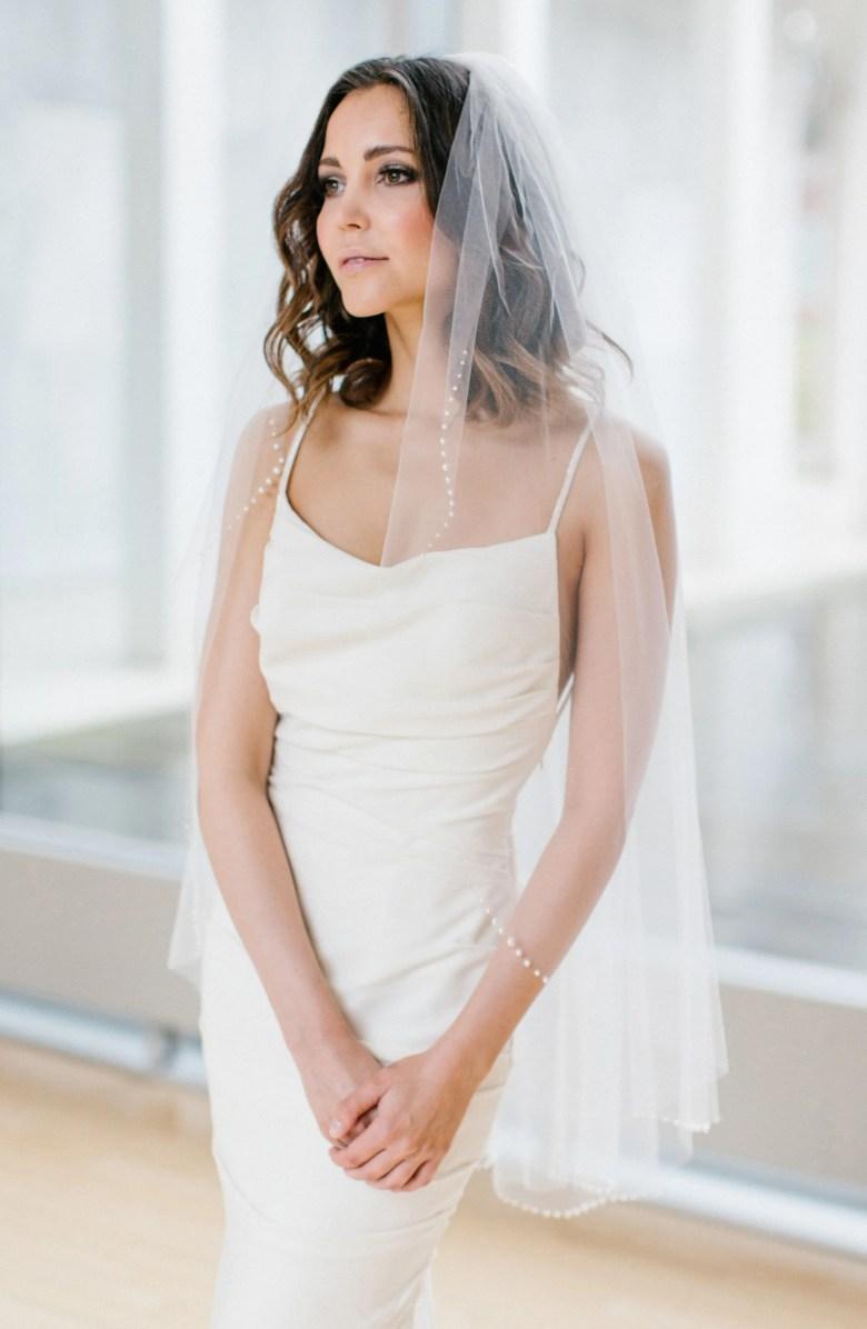 Fingertip Length wedding Veil
