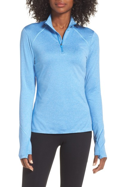 Helena Half-Zip Top,                         Main,                         color, BLUE CAMP