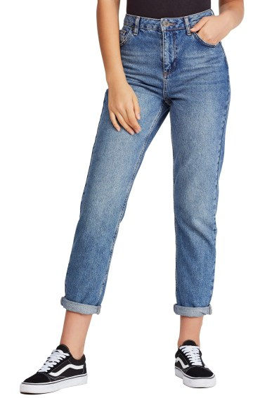 Urban Outfitters Mom Jeans,                         Main,                         color, DENIM BLUE