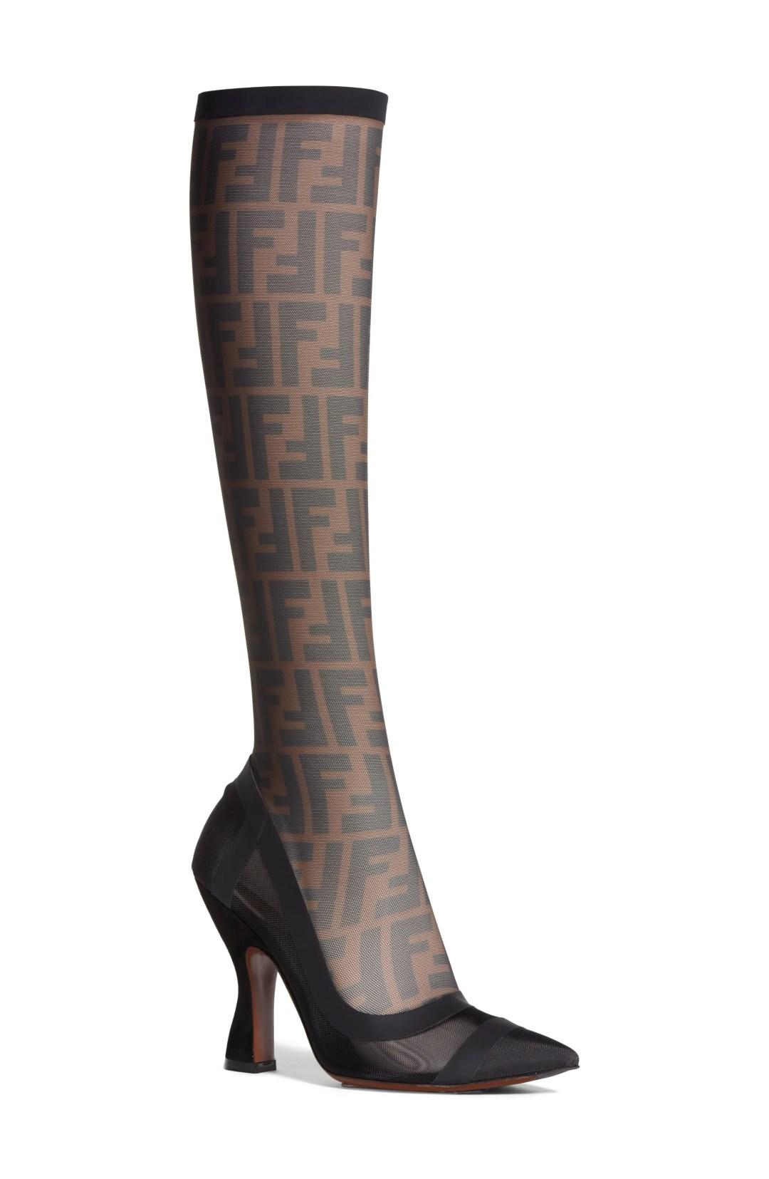 d9c1d2b62 ... Women's Fendi Logo Sock Pointy Toe Pump, Size 6US / 36.5EU – Black –  NORDSTROM.com – $1,100.00