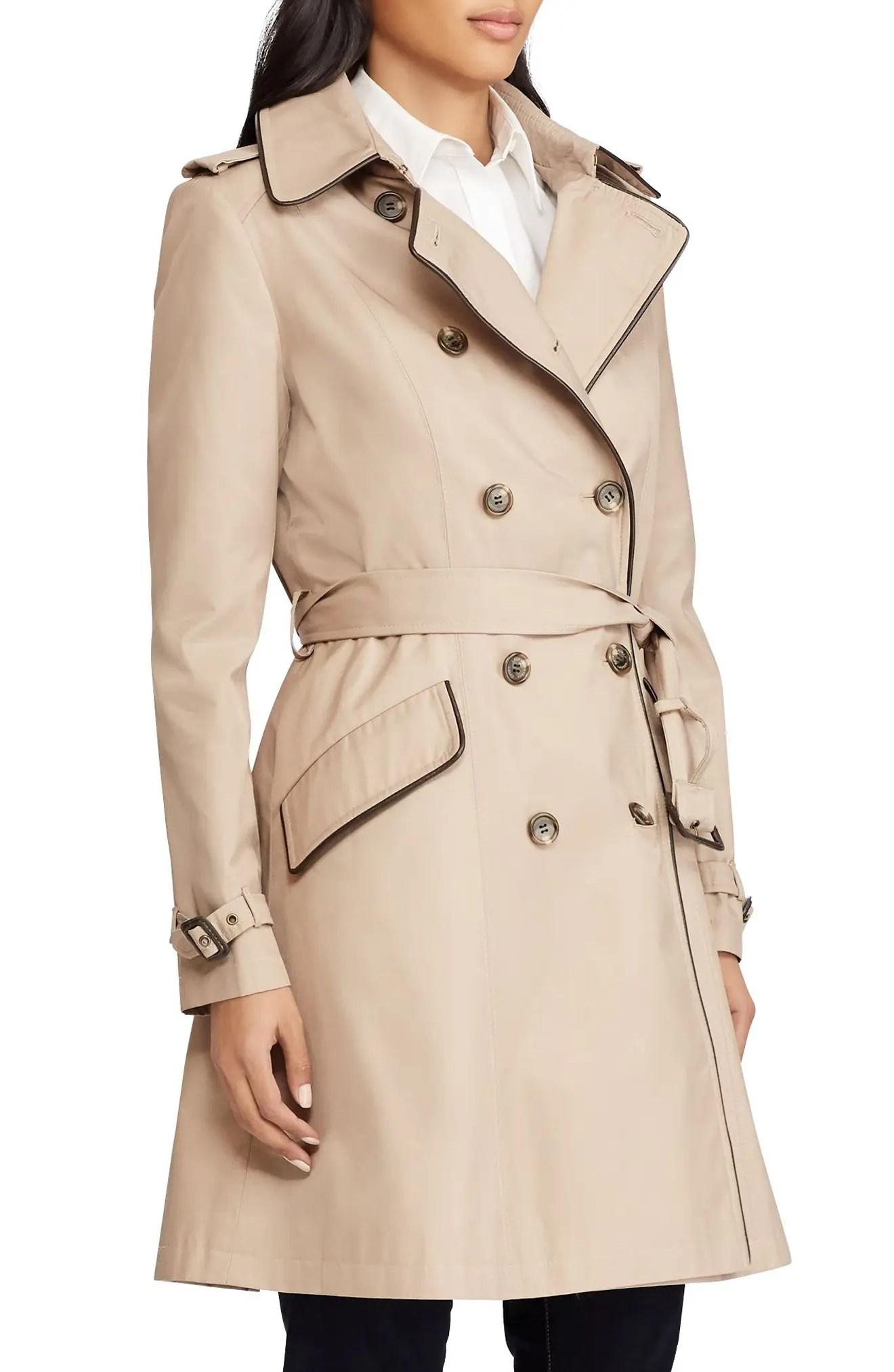Petite Short Trench Coat $240