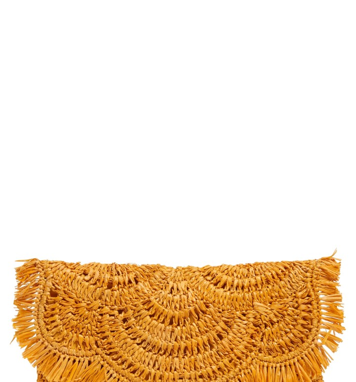 NORDSTROM Woven Raffia Clutch, Main, color, YELLOW WHIP