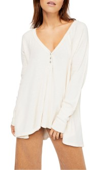 Citrine Textured Cotton Blend Top, Main, color, IVORY