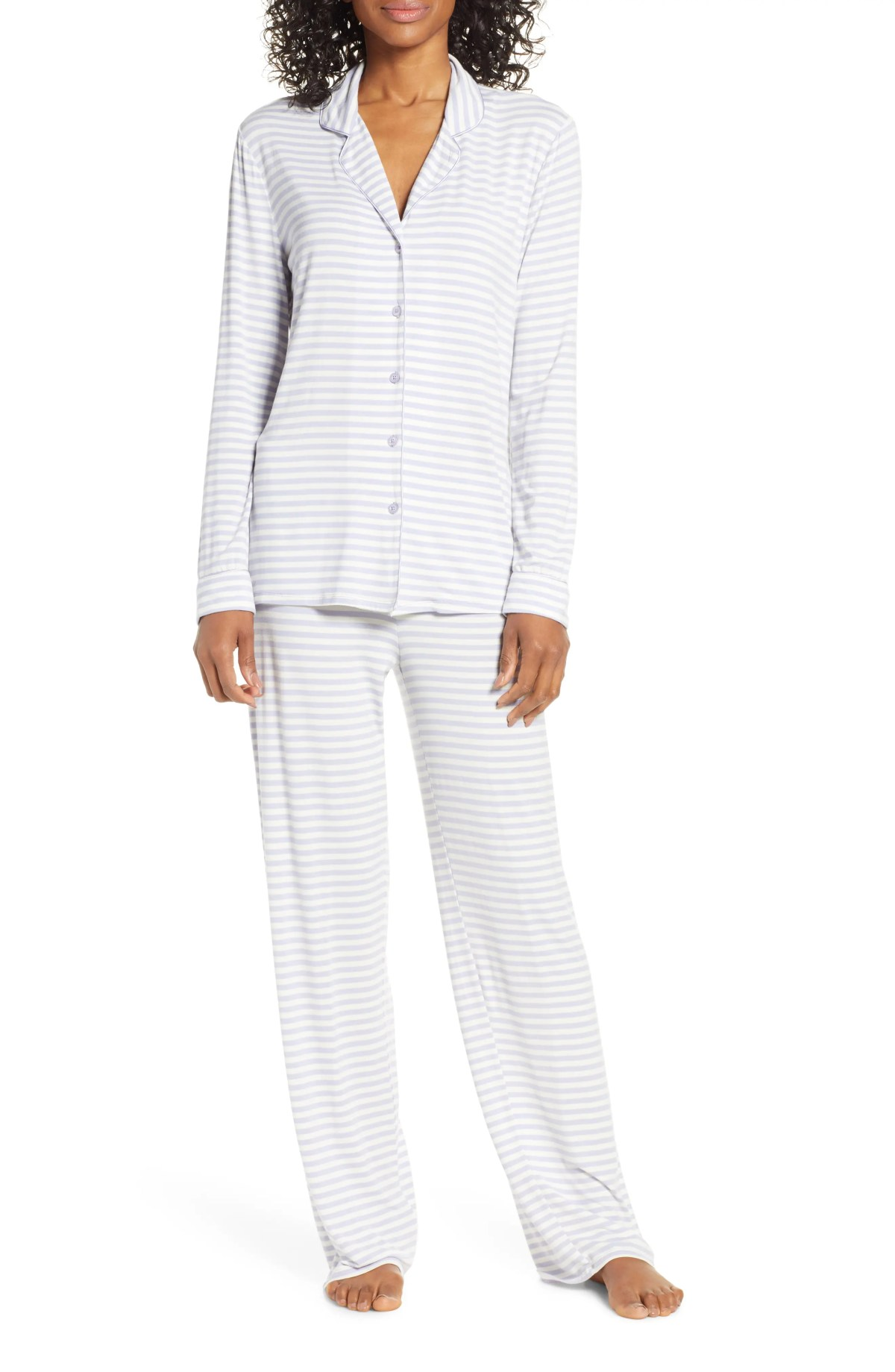 Moonlight Pajamas, Main, color, PURPLE COSMIC EVEN STRIPE