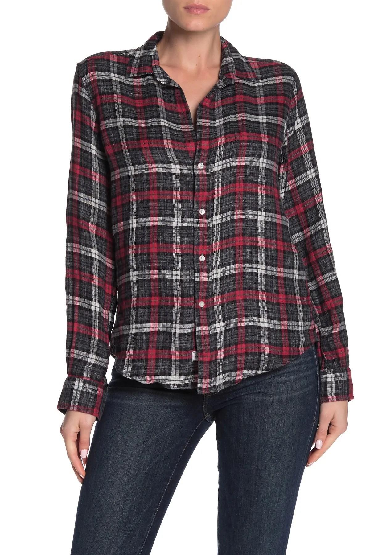 frank eileen barry long sleeve button front shirt nordstrom rack