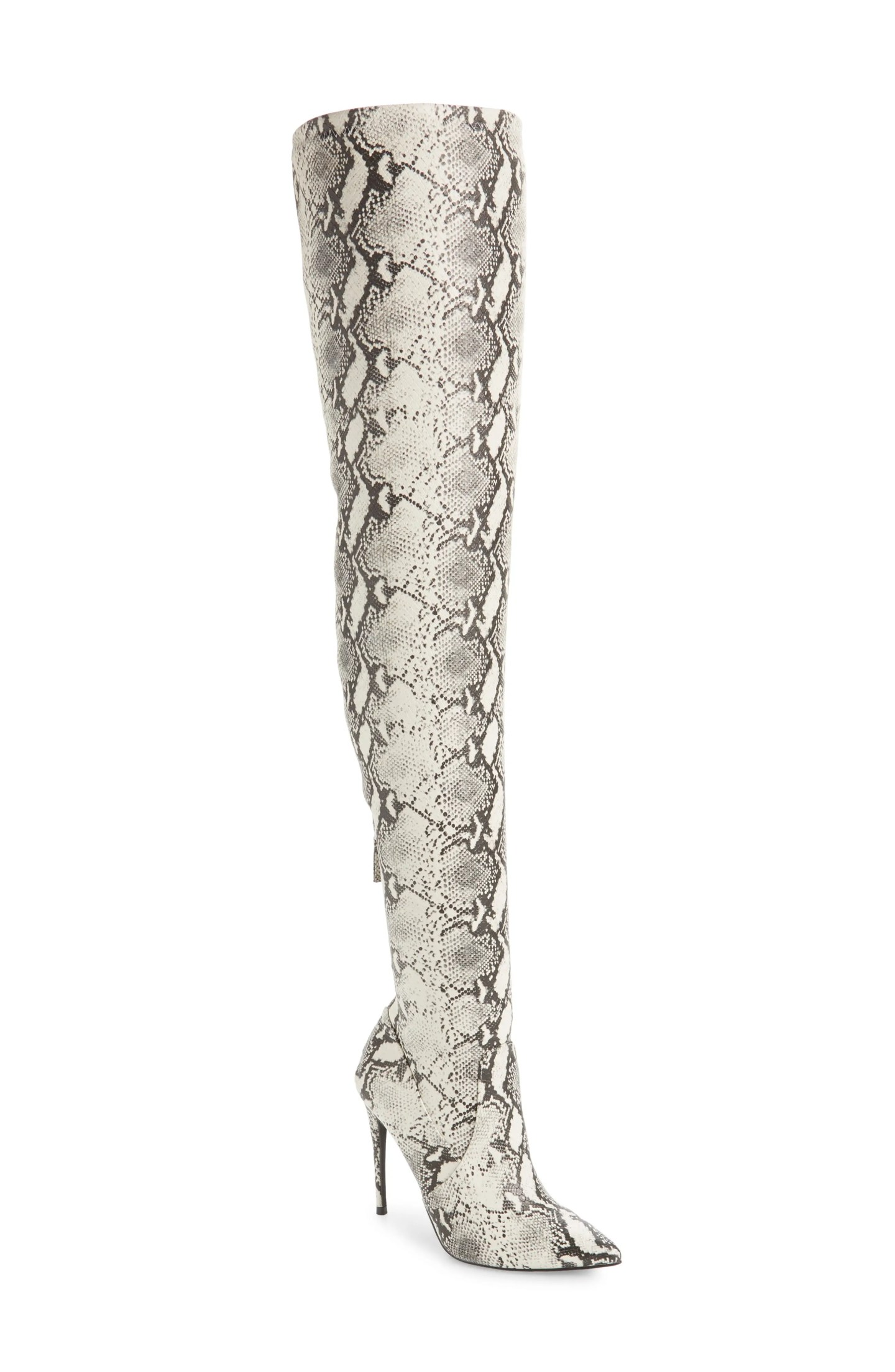 STEVE MADDEN Domain Thigh High Boot, Main, color, NATURAL SNAKE PRINT