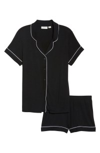 Moonlight Short Pajamas, Main, color, BLACK