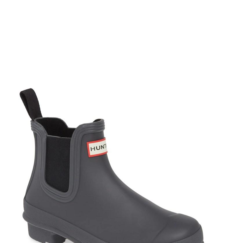 Original Waterproof Chelsea Rain Boot, Main, color, BLACK/ LUNA