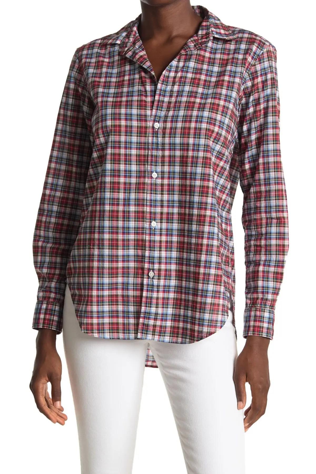 frank eileen frank plaid woven collared shirt nordstrom rack