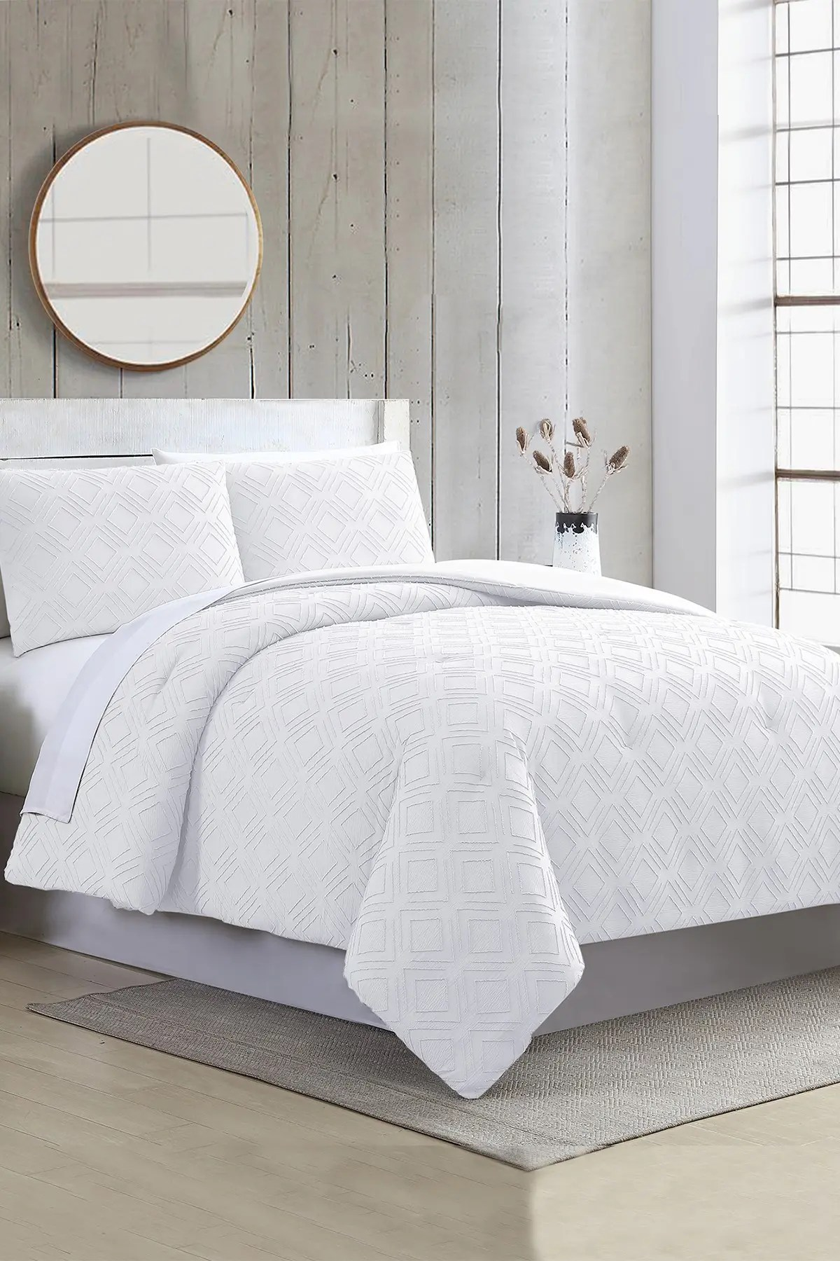Modern Threads 3 Piece Clipped Jacquard Comforter Set Ethos White Queen Nordstrom Rack