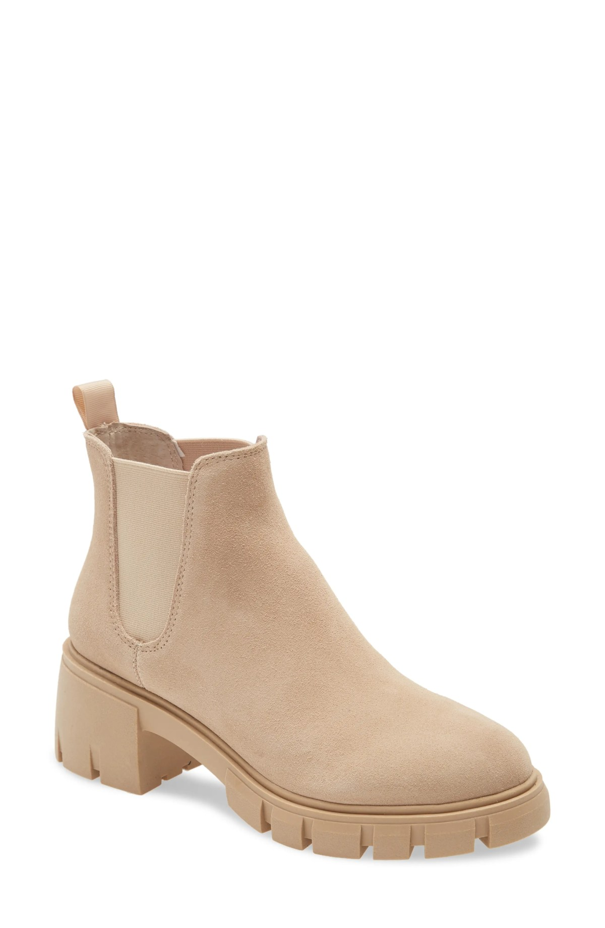 STEVE MADDEN Howler Bootie, Main, color, SAND SUEDE